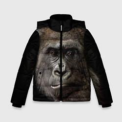 Куртка зимняя для мальчика Глаза гориллы цвета 3D-черный — фото 1