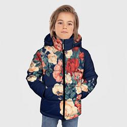 Куртка зимняя для мальчика Fashion flowers цвета 3D-черный — фото 2