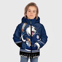 Куртка зимняя для мальчика Toronto Maple Leafs цвета 3D-черный — фото 2