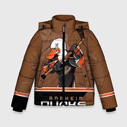 Куртка зимняя для мальчика Anaheim Ducks цвета 3D-черный — фото 1