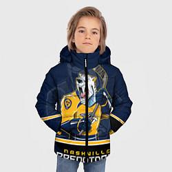 Детская зимняя куртка для мальчика с принтом Nashville Predators, цвет: 3D-черный, артикул: 10106987306063 — фото 2