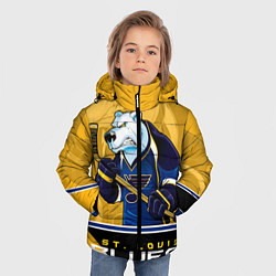 Куртка зимняя для мальчика St. Louis Blues цвета 3D-черный — фото 2
