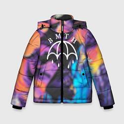 Детская зимняя куртка для мальчика с принтом BMTH Rain, цвет: 3D-черный, артикул: 10107031406063 — фото 1