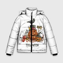 Детская зимняя куртка для мальчика с принтом Halloween, цвет: 3D-черный, артикул: 10108889606063 — фото 1
