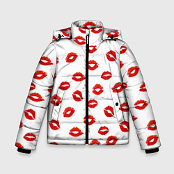 Куртка зимняя для мальчика Поцелуйчики цвета 3D-черный — фото 1