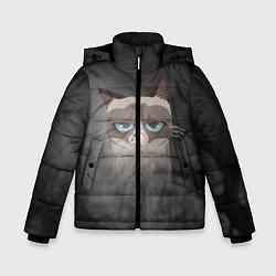 Куртка зимняя для мальчика Grumpy Cat цвета 3D-черный — фото 1