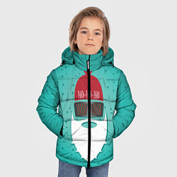 Куртка зимняя для мальчика Санта хипстер цвета 3D-черный — фото 2
