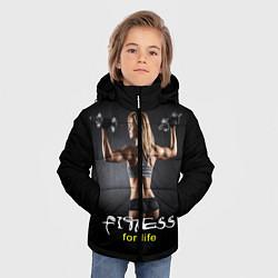 Куртка зимняя для мальчика Fitness for life цвета 3D-черный — фото 2