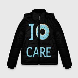 Куртка зимняя для мальчика I Donut care цвета 3D-черный — фото 1
