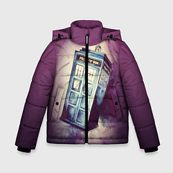 Куртка зимняя для мальчика Перемещение во времени цвета 3D-черный — фото 1