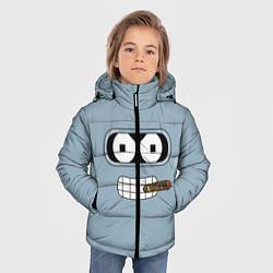 Куртка зимняя для мальчика Лицо Бендера цвета 3D-черный — фото 2