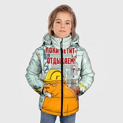 Куртка зимняя для мальчика Строитель 9 цвета 3D-черный — фото 2