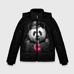 Куртка зимняя для мальчика Donut Panda цвета 3D-черный — фото 1