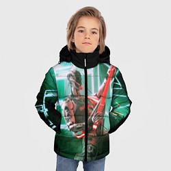 Детская зимняя куртка для мальчика с принтом Iron Maiden: Rocker Robot, цвет: 3D-черный, артикул: 10112079806063 — фото 2