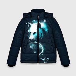 Куртка зимняя для мальчика Галактический волк цвета 3D-черный — фото 1