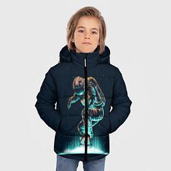 Куртка зимняя для мальчика Планетарный скейтбординг цвета 3D-черный — фото 2