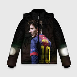 Куртка зимняя для мальчика Месси 10 цвета 3D-черный — фото 1