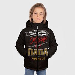 Куртка зимняя для мальчика Папа цвета 3D-черный — фото 2