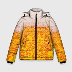 Куртка зимняя для мальчика Пивная тема цвета 3D-черный — фото 1