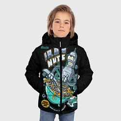 Детская зимняя куртка для мальчика с принтом Iron Nuts, цвет: 3D-черный, артикул: 10113801206063 — фото 2