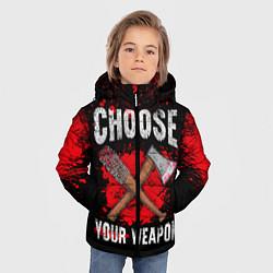 Куртка зимняя для мальчика Choose Your Weapon цвета 3D-черный — фото 2