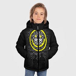 Куртка зимняя для мальчика Sherlock Smile цвета 3D-черный — фото 2