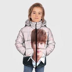 Куртка зимняя для мальчика Kim SeokJin цвета 3D-черный — фото 2