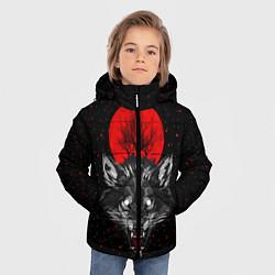 Куртка зимняя для мальчика Кровавая Луна цвета 3D-черный — фото 2