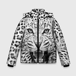 Куртка зимняя для мальчика Белый леопард цвета 3D-черный — фото 1
