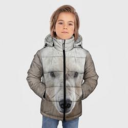 Куртка зимняя для мальчика Белый медведь цвета 3D-черный — фото 2