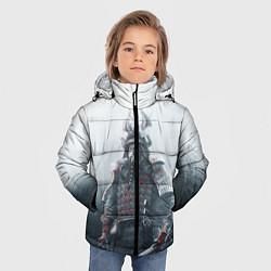 Детская зимняя куртка для мальчика с принтом Shadow Tactics, цвет: 3D-черный, артикул: 10115409206063 — фото 2
