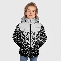 Детская зимняя куртка для мальчика с принтом Птичий вихрь, цвет: 3D-черный, артикул: 10115627906063 — фото 2
