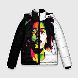 Куртка зимняя для мальчика Bob Marley: Colors цвета 3D-черный — фото 1