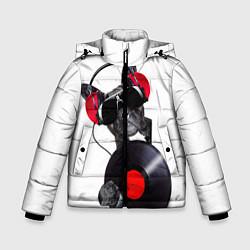 Детская зимняя куртка для мальчика с принтом DJ бульдог, цвет: 3D-черный, артикул: 10117899806063 — фото 1