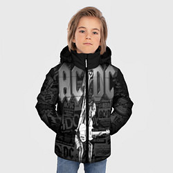 Куртка зимняя для мальчика AC/DC: Rock You цвета 3D-черный — фото 2