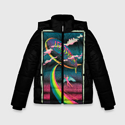 Куртка зимняя для мальчика Led Zeppelin: Colour Fly цвета 3D-черный — фото 1
