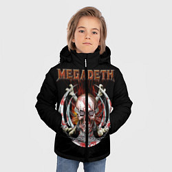 Куртка зимняя для мальчика Megadeth: Skull in chains цвета 3D-черный — фото 2