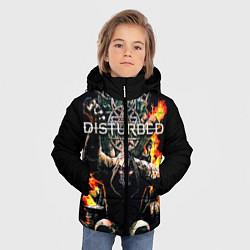 Куртка зимняя для мальчика Disturbed: Flame Throne цвета 3D-черный — фото 2