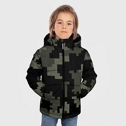 Куртка зимняя для мальчика Камуфляж пиксельный: черный/серый цвета 3D-черный — фото 2