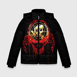 Детская зимняя куртка для мальчика с принтом Megadeth: Blooded Aim, цвет: 3D-черный, артикул: 10120102706063 — фото 1