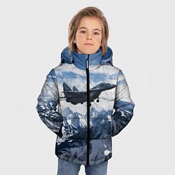 Куртка зимняя для мальчика Космические войска 10 цвета 3D-черный — фото 2