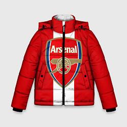 Куртка зимняя для мальчика Arsenal FC: Red line цвета 3D-черный — фото 1