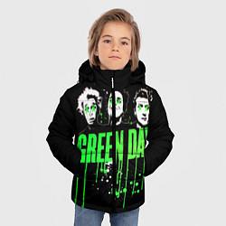 Куртка зимняя для мальчика Green Day: Acid eyes цвета 3D-черный — фото 2