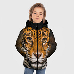 Куртка зимняя для мальчика Взгляд ягуара цвета 3D-черный — фото 2