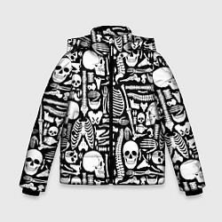 Куртка зимняя для мальчика Кости цвета 3D-черный — фото 1