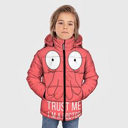 Куртка зимняя для мальчика Доверься Зойдбергу цвета 3D-черный — фото 2