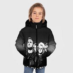 Куртка зимняя для мальчика Depeche Mode: mono цвета 3D-черный — фото 2