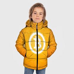 Куртка зимняя для мальчика Bitcoin Orange цвета 3D-черный — фото 2