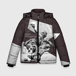 Куртка зимняя для мальчика Floyd Mayweather цвета 3D-черный — фото 1