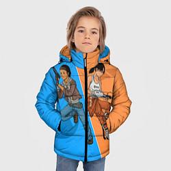 Куртка зимняя для мальчика Half-Portal цвета 3D-черный — фото 2